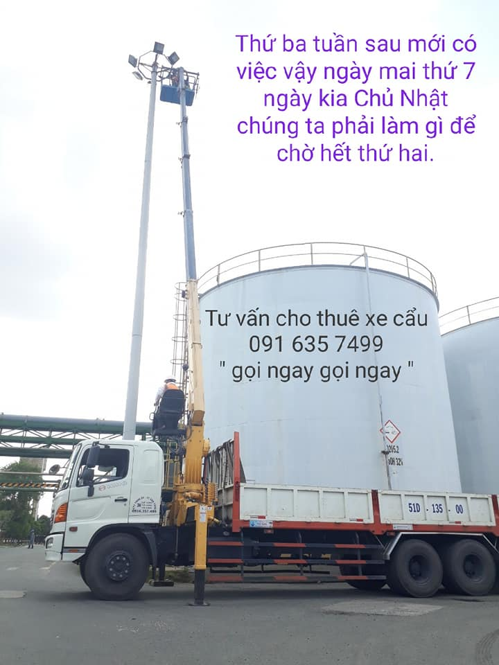 Cho thuê xe cẩu người 0916357499( Văn Tăng )